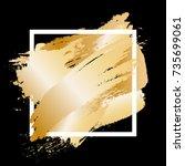 gradient gold metal strokes... | Shutterstock .eps vector #735699061