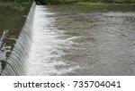 texture of waterfall | Shutterstock . vector #735704041