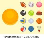 set of balls isolated... | Shutterstock .eps vector #735707287