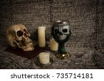 Skull And Candles With A Skull...