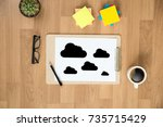 cloud computing diagram network ... | Shutterstock . vector #735715429