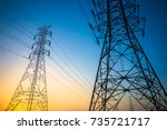 green energy concept ... | Shutterstock . vector #735721717