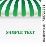green awning on white background   Shutterstock .eps vector #735723331