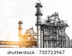 close up industrial zone. plant ... | Shutterstock . vector #735723967