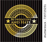 between love and hate shiny... | Shutterstock .eps vector #735725251