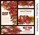 meat fresh cut vector banner... | Shutterstock .eps vector #735726574