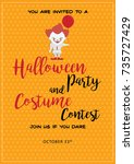 halloween party and costume... | Shutterstock .eps vector #735727429