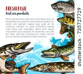 fish fresh product poster...