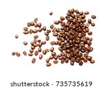 coffee beans. isolated on a... | Shutterstock . vector #735735619