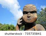auckland   oct 15 2017 maori... | Shutterstock . vector #735735841