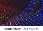 3d illustration  embossed mesh... | Shutterstock . vector #735740344