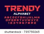 trendy style alphabet  vector... | Shutterstock .eps vector #735750265