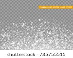 glowing lights white glitter.... | Shutterstock .eps vector #735755515