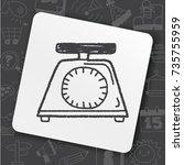 doodle scale | Shutterstock .eps vector #735755959