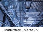 cassette type  air condition... | Shutterstock . vector #735756277