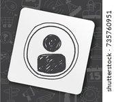 doodle character sign | Shutterstock .eps vector #735760951