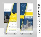 business roll up design... | Shutterstock .eps vector #735762151