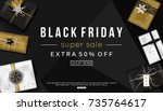 black friday sale banner... | Shutterstock .eps vector #735764617
