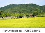 korea andong village | Shutterstock . vector #735765541