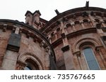 detail of basilica de santa...   Shutterstock . vector #735767665