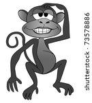 illustration of a cartoon monkey | Shutterstock . vector #73578886
