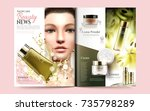 beauty magazine template ... | Shutterstock .eps vector #735798289
