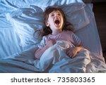 night terrors of the child....   Shutterstock . vector #735803365