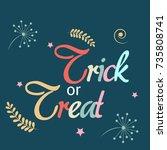 vector illustration of a banner ... | Shutterstock .eps vector #735808741