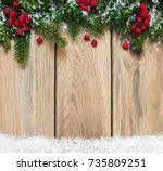 christmas holiday background  ... | Shutterstock . vector #735809251