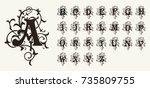 Vintage Set Capital Letters ...