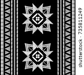 aztec embroidery pattern design ... | Shutterstock .eps vector #735811249