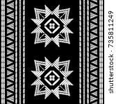aztec embroidery pattern design ...   Shutterstock .eps vector #735811249