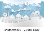 winter illustrations. santa... | Shutterstock .eps vector #735811339