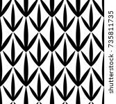modern geometric pattern design ... | Shutterstock .eps vector #735811735