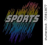 athletic sport typography  tee... | Shutterstock .eps vector #735813877