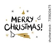 merry christmas template for... | Shutterstock .eps vector #735820675