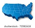 u.s.a 3d map symbol represented ... | Shutterstock . vector #73582618