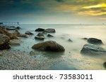 Sea Stones During Sunrise