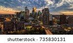 minneapolis at dusk   Shutterstock . vector #735830131