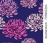 beautiful seamless pattern with ... | Shutterstock .eps vector #735832261