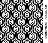 modern geometric pattern design ... | Shutterstock .eps vector #735837535