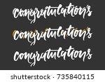 congratulation card. vector... | Shutterstock .eps vector #735840115
