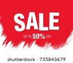 sale banner layout design | Shutterstock .eps vector #735843679