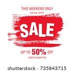sale banner layout design | Shutterstock .eps vector #735843715