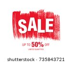 sale banner layout design   Shutterstock .eps vector #735843721