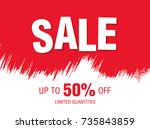 sale banner layout design | Shutterstock .eps vector #735843859