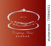 food service vector logo design ... | Shutterstock .eps vector #735846511