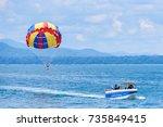rayong  thailand   october  07  ... | Shutterstock . vector #735849415