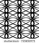modern geometric pattern design ... | Shutterstock .eps vector #735850975
