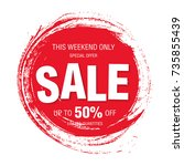 sale banner layout design | Shutterstock .eps vector #735855439